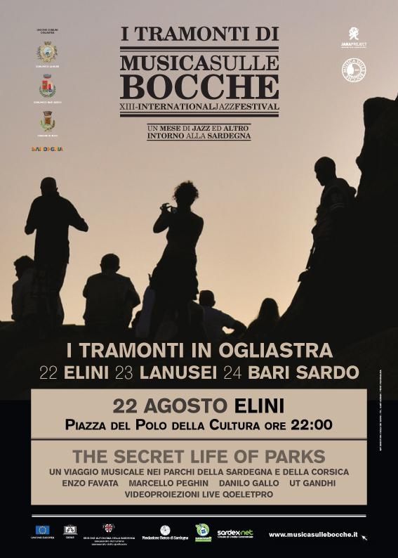 """""""The Secret Life of Parks"""" live nel più piccolo paese dell'Ogliastra per """"Tramonti di Musica"""", 22 agosto, Elini"""