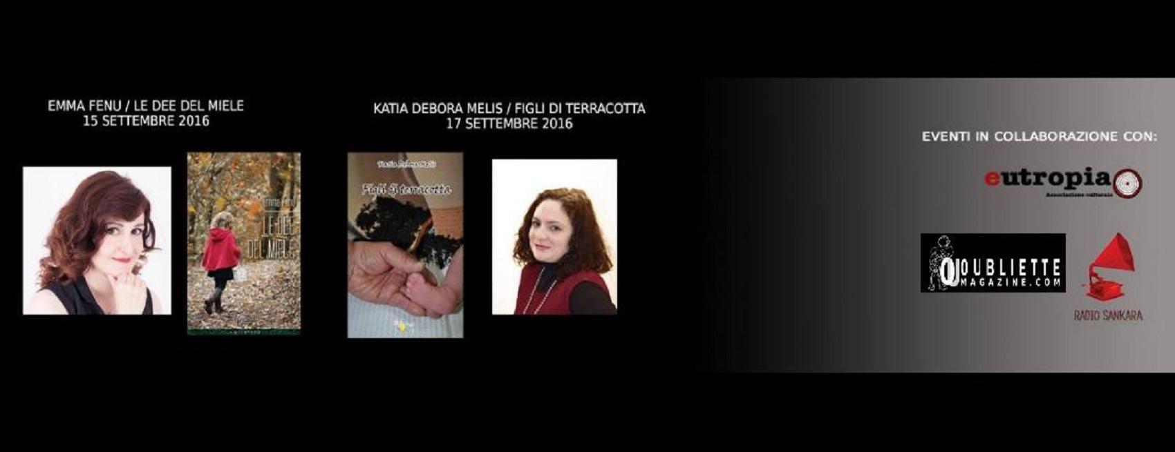 Emma Fenu e Katia Debora Melis si incontrano al Circolo La Marina Sankara, 15 e 17 settembre 2016, Cagliari