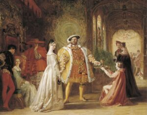 Enrico VIII ed Anna Bolena _ Painting by Daniel Maclise