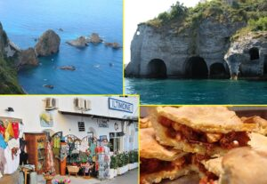 Faraglioni Lucia Rosa - Grotte di Pilato - Ponza città - Tiella
