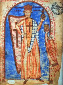 Federico Barbarossa - Miniatura da un manoscritto del 1188, Biblioteca Vaticana
