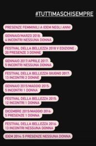 Festival della Bellezza - twitter di Giulia Siviero