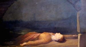 Found Drowned - di George Frederic Watts - (ca. 1848-50) - Femminicidio