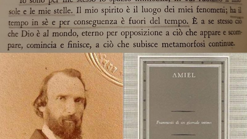 """""""Diario intimo"""" di Henri-Frédéric Amiel: la lotta universale dell'uomo con se stesso – novembre 1849/1872/1879"""