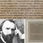 """""""Diario intimo"""" di Henri-Frédéric Amiel: il tempo è un movimento dell'eternità – dicembre 1863/1870/1872/1880"""