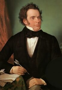 Franz Schubert - by Wilhelm August Rieder, 1825