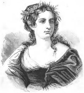 Gaspara Stampa - Paintig by Eugenio Camerini - Donne illustri (1870)