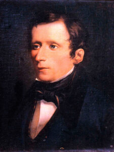 Giacomo Leopardi - ritratto postumo del 1845 - Painting by Domenico Morelli