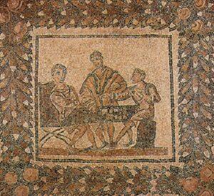 Giocatori di dadi - Mosaico romano ad Algeri