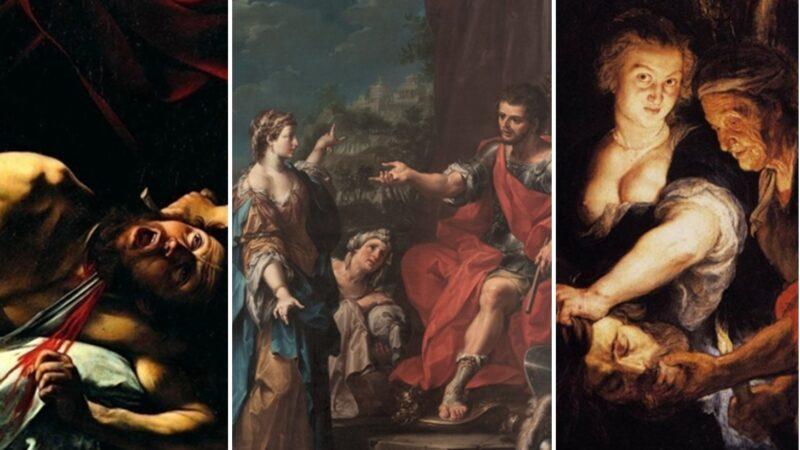 Giuditta ed Oloferne: un'analisi del sangue sparso sulle tele dipinte