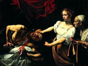 Giuditta e Oloferne - Painting by Caravaggio - olio su tela, 1597, Roma, Palazzo Barberini