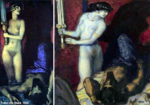 Giuditta e Oloferne - Painting by Franz von Stuck - 1924