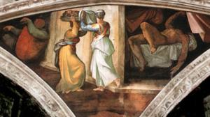 Giuditta e Oloferne - Painting by Michelangelo - Cappella Sistina