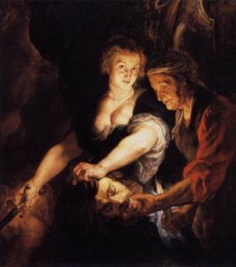 Giuditta e Oloferne - Painting by Rubens, 1616, Braunschweig, Herzog Anton Ulrich-Museum