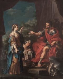 Giuditta e Oloferne - Painting by Sansone (Giuseppe Marchesi) - 1730