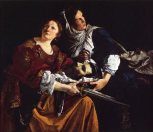 Giuditta e l'ancella con la testa di Oloferne - Painting by Orazio Gentileschi - 1612, Hartford