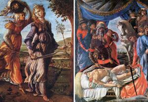 Giuditta ritorna a Betulia, La scoperta del cadavere d'Oloferne - Painting by Sandro Botticelli