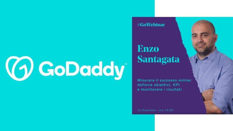 """GoWebinar di GoDaddy: il 16 dicembre il seminario gratuito """"Misurare il successo online"""" di Enzo Santagata"""