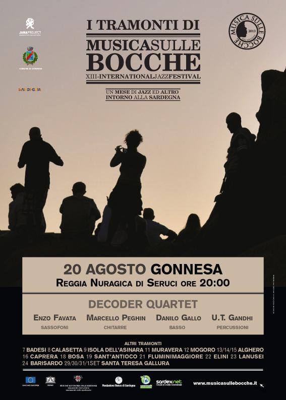 """Decoder Quartet live: Gonnesa si tinge di jazz con """"Tramonti di Musica"""", 20 agosto"""