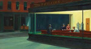 Nottambuli di Edward Hopper - 1942