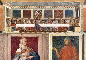 Il Cenacolo di Sant'Apollonia - Ester e Petrarca ne Ciclo degli uomini e delle donne illustri - Painting by Andrea del Castagno