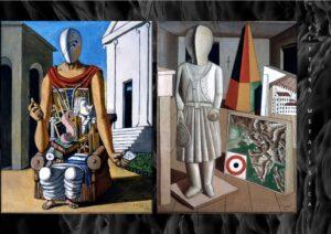 Il pensatore di Giorgio de Chirico - La musa metafisica di Carlo Carrà