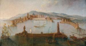 Il porto di Civitavecchia in un dipinto del XVIII secolo