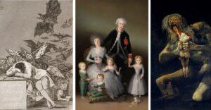 Il sonno della ragione genera mostri - Ritratto dei duchi di Osuna con i figli - Saturno che divora i suoi figli