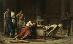Il suicidio di Seneca - Painting by Manuel Domínguez Sánchez - 1871