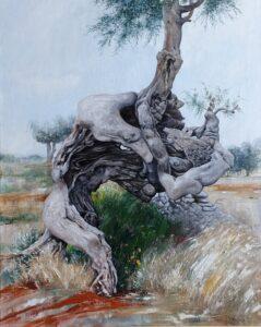 Il vecchio sempre vigile - Painting by Vincenzo Brescia