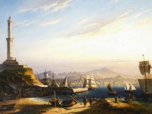 Ingresso del porto di Genova by Antoine Edmond Joinville