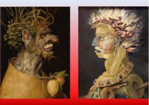 Inverno - Il fuoco - Painting by Giuseppe Arcimboldo