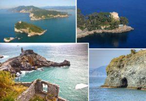 Isola del Tino - Castello di Paraggi - Porto Venere - Albisola Buco del Prete