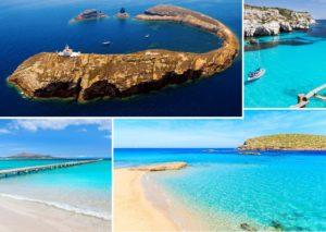 Isole Columbretes - Minorca - Playa de Muro (Alcudia) - Ibiza