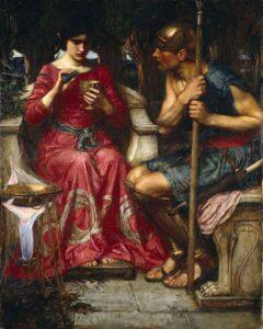 Jason and Medea - Painting by John William Waterhouse - 1907