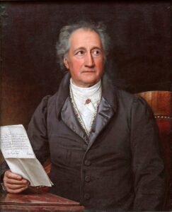 Johann Wolfgang von Goethe, ritratto da J. K. Stieler nel 1828