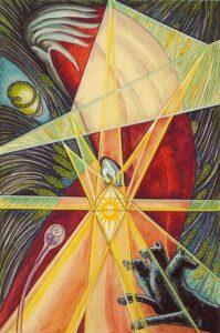 L'Eremita di Aleister Crowley, dipinto da Frieda Harris