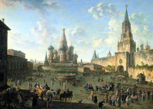 La Piazza Rossa prima del grande incendio del 1812, Fyodor Alekseyev, 1802