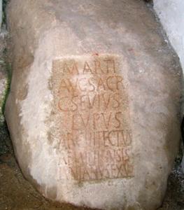 La Torre di Hercules - iscrizione votiva