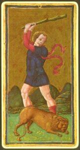 La forza - Tarocchi Visconti-Sforza