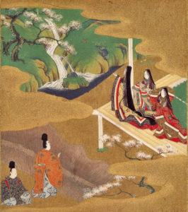 La giovane Murasaki - illustrazione di Tosa Mitsuoki (1617–1691)