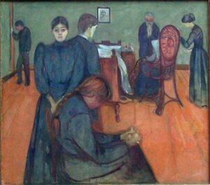 La morte nella stanza della malata - Edvard Munch