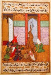 La nascita di Maometto - Miniatura di un manoscritto ottomano del Siyar-i Nebi