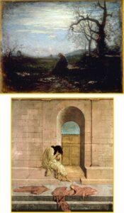 La solitudine di Antonio Fontanesi - La derelitta di Sandro Botticelli