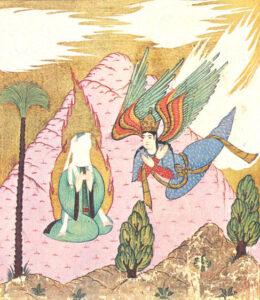 L'arcangelo Gabriele riferisce la Rivelazione di Dio a Maometto