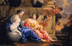 Le muse Urania e Calliope - Painting by Simon Vouet - 1634
