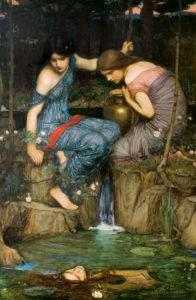 Le ninfe ritrovano la testa di Orfeo - Painting by William Waterhouse - 1900