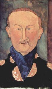 Léon Bakst ritratto da Amedeo Modigliani