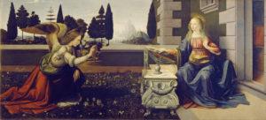 Leonardo da Vinci - The Annunciation - c.1472-Uffizi-Gallery