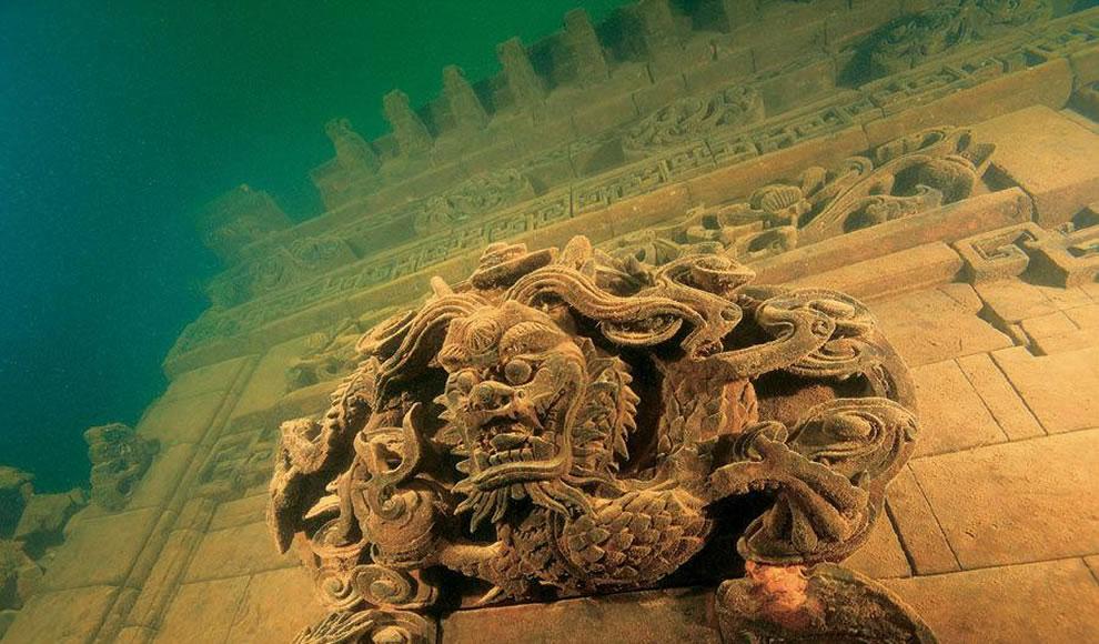 Scoperta Lion City: città che il governo cinese nel 1959 ha sommerso creando il lago artificiale Quindao